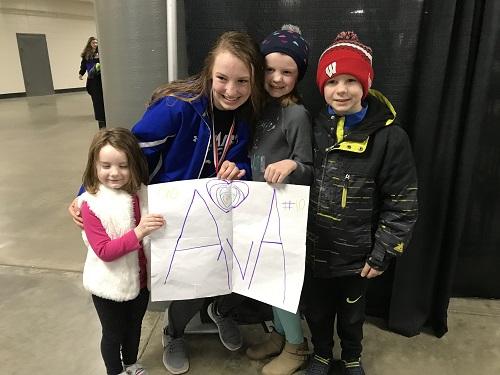 Ava Kison hockey state championship