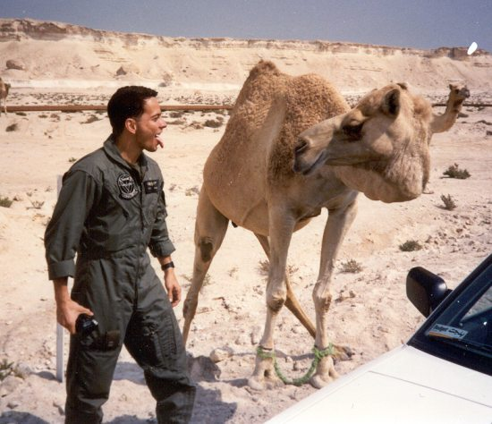 Dr. Mejia and camel