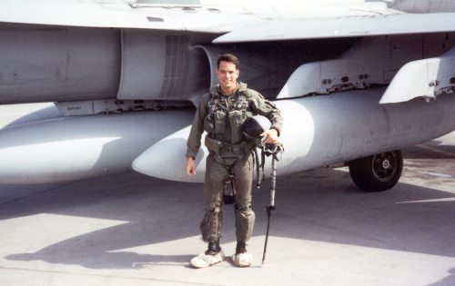 Dr. Mejia in flight suit